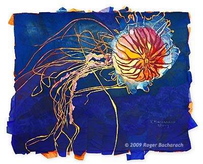 Japanese Sea Nettle/Jellyfish by Roger Bacharach